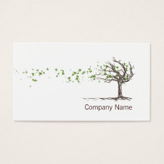 Árvore do vento do zen com modelo de cartão de