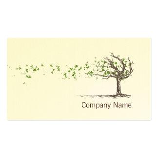 Árvore do vento do zen com modelo de cartão de neg