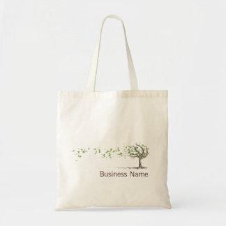 Árvore do vento do zen com saco das folhas bolsa tote