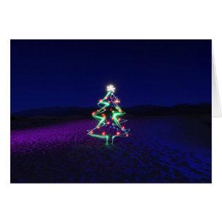 Árvore do Xmas do Vale da Morte Cartão Comemorativo