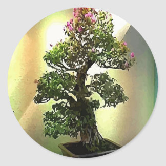 Árvore dos bonsais do Bougainvillea Adesivo