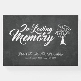 Árvore enchida coração do quadro em memória Loving Livro De Visitas