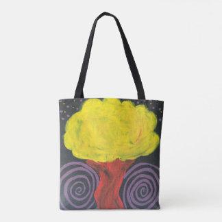 Árvore espiral da noite bolsas tote