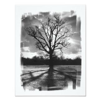 Árvore estéril dos ramos convite 10.79 x 13.97cm