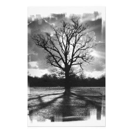 Árvore estéril dos ramos papeis personalizados