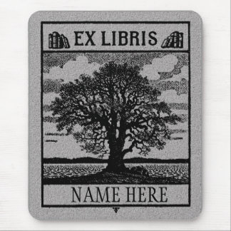 Árvore ex de Libris no campo Mouse Pad