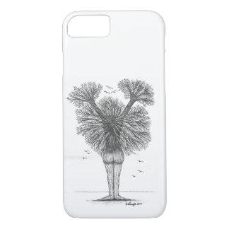Árvore fêmea da capa de telefone da vida
