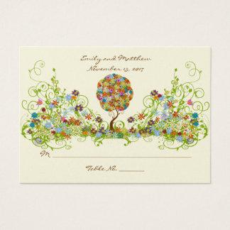 Árvore floral Enchanted do conto de fadas dos Cartão De Visitas