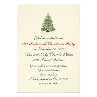 Árvore formal dos convites da festa de Natal