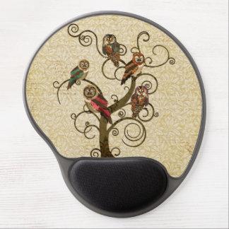 Árvore gasto Mousepad da coruja Mousepads De Gel