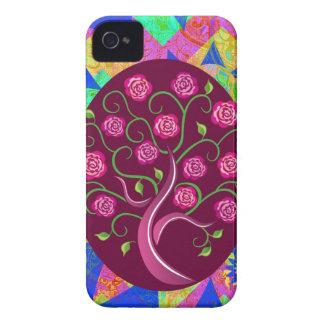 Árvore lunática do abstrato colorido dos rosas da capinha iPhone 4