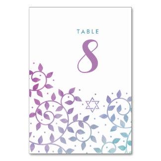 Árvore moderna do cartão do número da mesa de