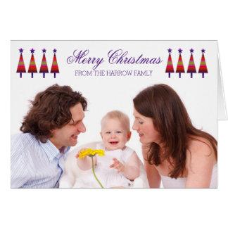 Árvore personalizada da estrela do cartão de Natal