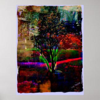 Árvore psicadélico poster