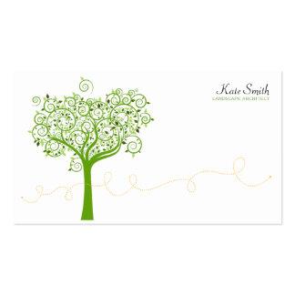 Árvore redemoinho modelos cartoes de visita