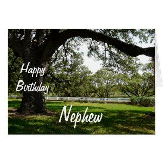 Árvore Sobrinho-Velha do feliz aniversario no Cartão Comemorativo