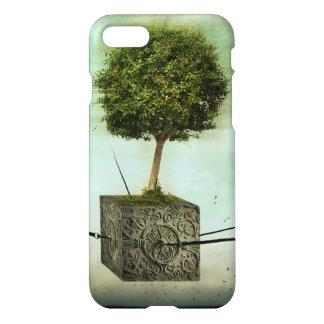 árvore, verde, surrealismo, arte, natureza, céu, capa iPhone 7