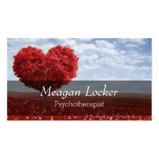 Árvore vermelha do coração da psicologia cartão de visita