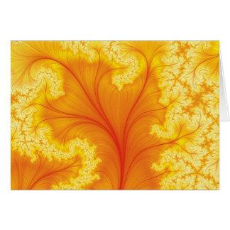 Árvore vermelha do fractal cartão comemorativo