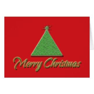 Árvore vermelha moderna do xmas do verde dos cartõ cartão comemorativo