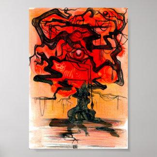 árvore vermelha pôster