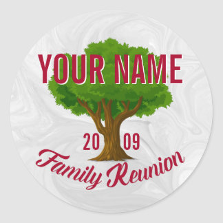Árvore vívida reunião de família personalizada adesivo