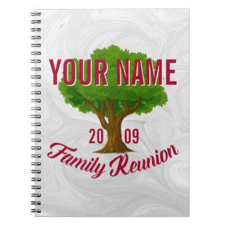 Árvore vívida reunião de família personalizada caderno espiral