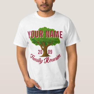 Árvore vívida reunião de família personalizada camiseta