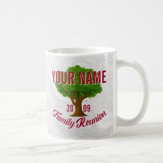 Árvore vívida reunião de família personalizada caneca de café