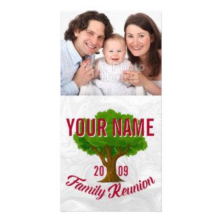 Árvore vívida reunião de família personalizada cartão com foto
