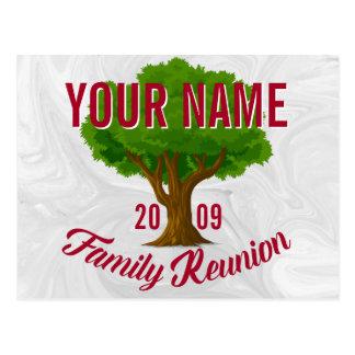 Árvore vívida reunião de família personalizada cartão postal