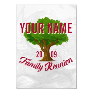 Árvore vívida reunião de família personalizada convite 12.7 x 17.78cm