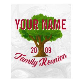 Árvore vívida reunião de família personalizada flyer 11.43 x 14.22cm