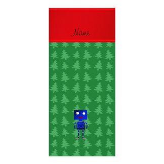 Árvores azuis conhecidas personalizadas do verde panfletos informativos