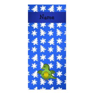 Árvores azuis personalizadas dos flocos de neve do planfetos informativos coloridos
