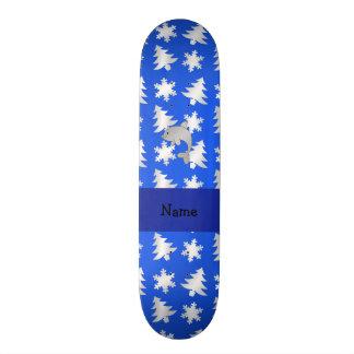 Árvores azuis personalizadas dos flocos de neve do shape de skate 18,7cm