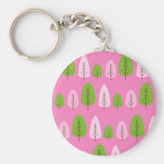 Árvores cor-de-rosa e verdes no rosa chaveiro