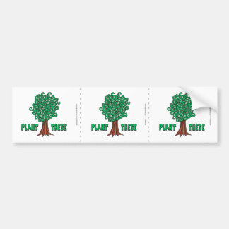 Árvores da planta adesivo para carro