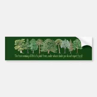 Árvores da planta - amante da árvore, Hugger Adesivo De Para-choque