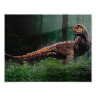 Árvores de grama do período cretáceo do dinossauro impressão de foto