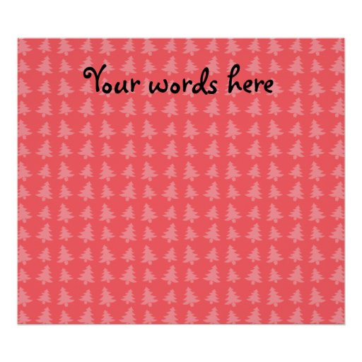 Árvores de Natal vermelhas claras Posteres