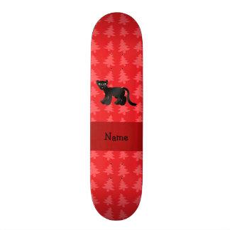 Árvores de Natal vermelhas personalizadas da pante Shape De Skate 18,1cm