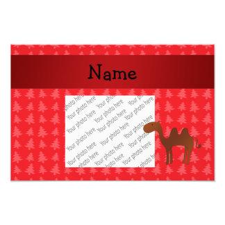 Árvores de Natal vermelhas personalizadas do camel Foto Artes