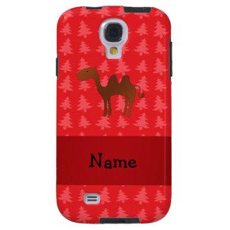 Árvores de Natal vermelhas personalizadas do camel Capa Para Galaxy S4