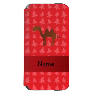 Árvores de Natal vermelhas personalizadas do