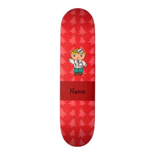 Árvores de Natal vermelhas personalizadas do douto Skateboard