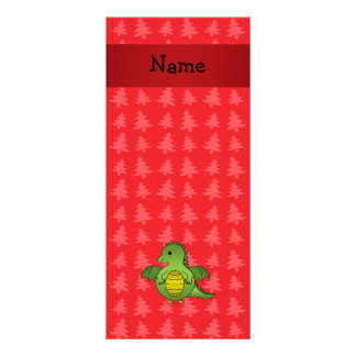 Árvores de Natal vermelhas personalizadas do dragã Panfletos Informativos
