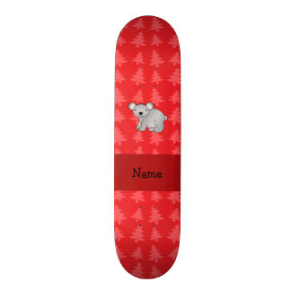 Árvores de Natal vermelhas personalizadas do koala Shape De Skate 19,7cm