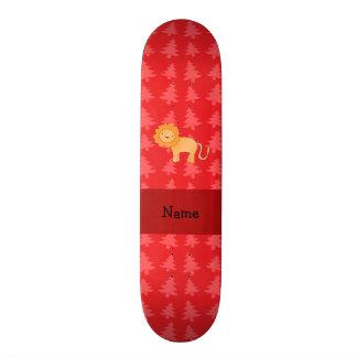 Árvores de Natal vermelhas personalizadas do leão  Skates