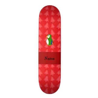 Árvores de Natal vermelhas personalizadas do papag Shape De Skate 19,7cm